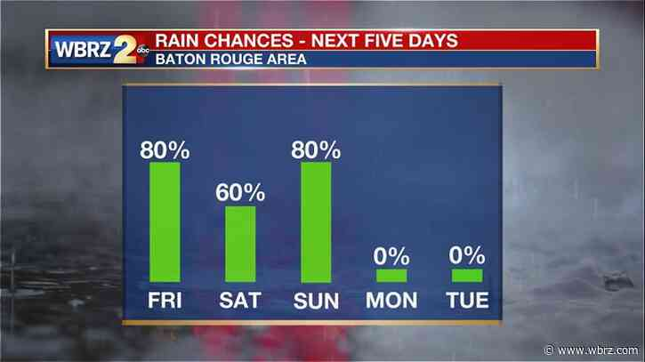 Stormy pattern continues through Sunday