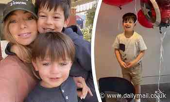 Nadia Bartel celebrates son Aston's fifth birthday with Iron Man cake and low-key party at home