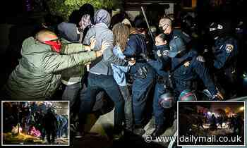 Angry clashes break out as cops evict squatters in LA