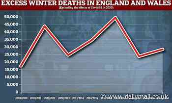Excess winter deaths in England and Wales increased by a fifth last year before Covid hit