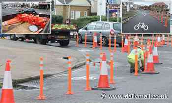 Council finally removes hated Covid lockdown bike lanes that caused traffic jams