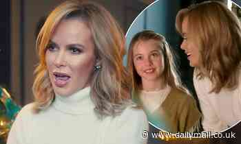 Amanda Holden and her lookalike daughters get in the festive spirit in single Home For Christmas