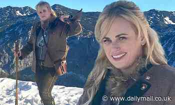 Rebel Wilson spends Thanksgiving hiking through the snowy mountains of the Austrian Alps