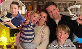 Jamie Oliver shares sweet family snap with wife Jools and their sons Buddy, 10, and River, 4