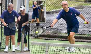 The Apprentice's Sir Alan Sugar and wife Anne play tennis in Sydney