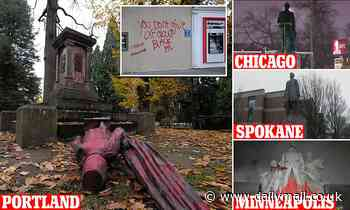 Monuments defaced in four US cities during Thanksgiving Day protests