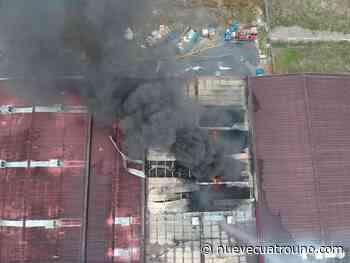 """Un herido con """"quemaduras graves"""" por el incendio de Kupsa en Oyón - NueveCuatroUno"""