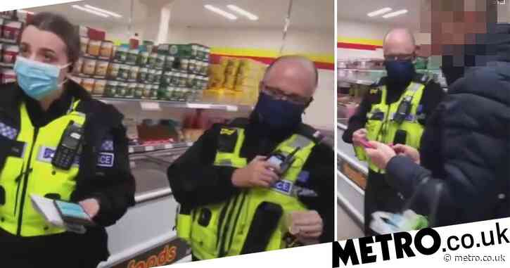 Shopper fined by police for not wearing mask, despite claiming she is exempt
