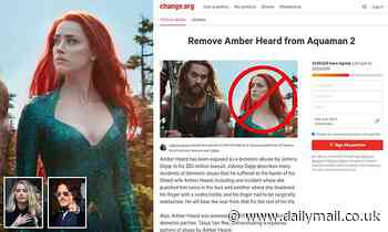 Petition to fire Amber Heard from Aquaman 2 reaches more than 1.5MILLION signatures