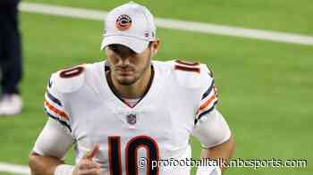 Bears confirm Mitchell Trubisky will start on Sunday