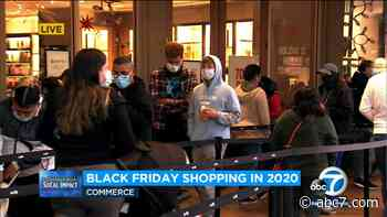 Black Friday: Shoppers flock to Citadel Outlets despite pandemic - KABC-TV