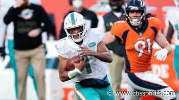 Dolphins list Tua Tagovailoa as questionable for Week 12 vs. Jets with thumb injury