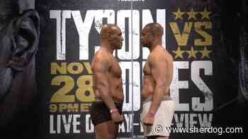 Mike Tyson Weighs 10 Pounds Heavier Than Roy Jones Jr. Ahead of Exhibition