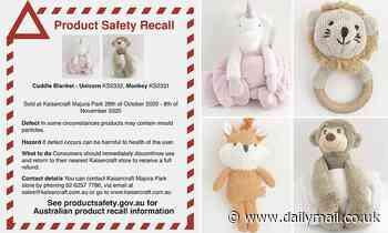 Children's accessories from Kaisercraft Pty Ltd urgently recalled