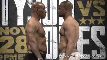 Tyson hits the scales as boxing legends reveal heavyweight builds