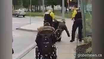 Police investigate video showing security dumping man out of wheelchair in St. Catharines