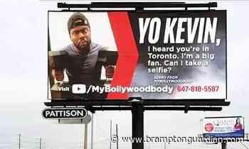 Brampton trainer pays for billboard outside Bramalea GO Station in hopes of meeting Kevin Hart - Brampton Guardian