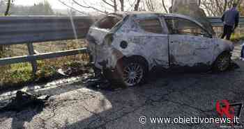 BORGARO TORINESE – Auto in fiamme sul cavalcavia al confine tra Borgaro e Mappano - ObiettivoNews
