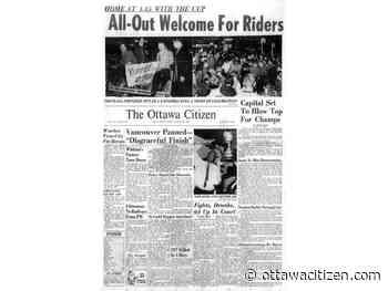 Citizen@175: 1960 Grey Cup hi-jinks 'a dime a dozen'