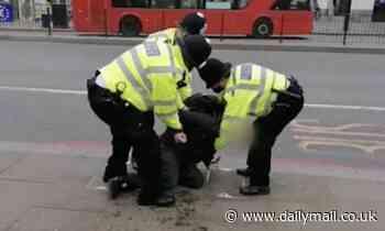 Coronavirus UK: Anti-lockdown protestor bursts into tears as police arrest him