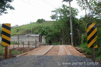 Nova ponte de madeira na região sul de São José está liberada para o tráfego - PortalR3