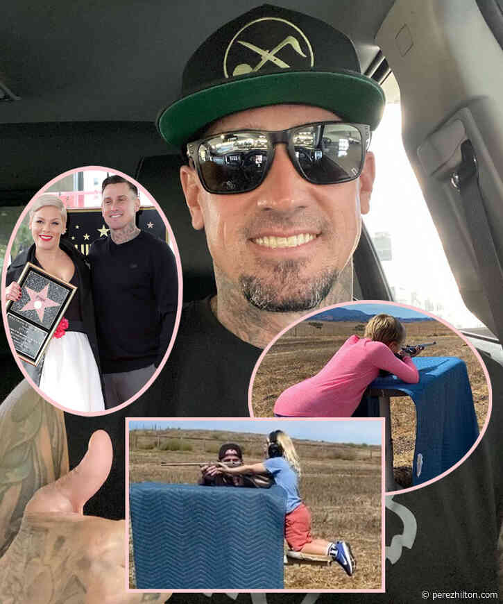 Pink's Husband Carey Hart Still Teaching His Kids To Shoot Guns -- But He's Hitting Back At THIS Political Accusation!
