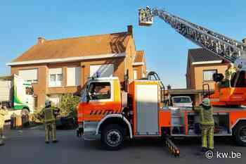Schoorsteenbrand in Roeselare