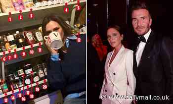 A look inside Victoria Beckham's larder reveals a shelf full of posh spice