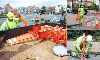 Councils start to rip up bike lanes: Round One to MoS as workmen in Worthing remove hated bollards