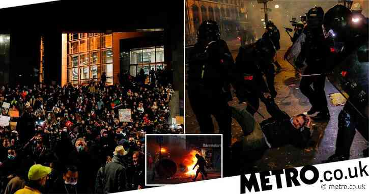 Violence on streets of Paris as police brutality protests descend into chaos
