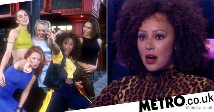 Mel B breathes huge sigh of relief as she almost slips up on Spice Girls trivia on Michael McIntyre's The Wheel