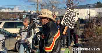 Coronavirus: Anti-mask protesters gather in Salmon Arm, Kelowna