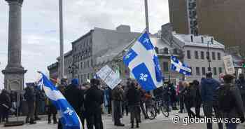 Quebec sovereigntists and French-language activists rally in Montreal
