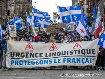 Protesters rally in Montreal to defend French language