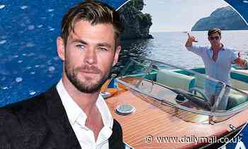 Chris Hemsworth's new 50s-inspired speedboat for movie Spiderhead on Hamilton Island