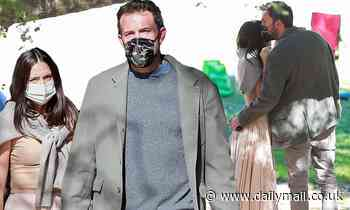 Ben Affleck and Ana de Armas put on an affectionate display while at the park with his kids