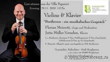 Konzert des Kulturbüros Burghausen als stream - Wochenblatt.de