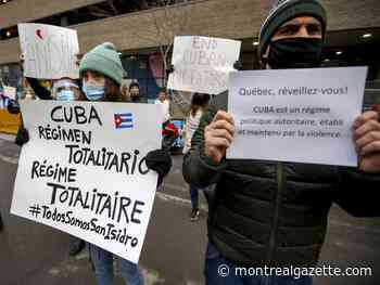 Stop vacationing in repressive Cuba, group demands at Montreal protest
