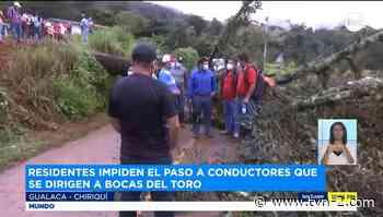Se registra protesta de residentes en Gualaca, provincia de Chiriquí - TVN Panamá