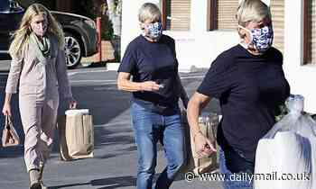 Ellen DeGeneres rocks a black T-shirt on a shopping trip with her wife Portia de Rossi