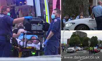 Man shot by police during altercation in a shopping centre car park in Sydney's Bankstown
