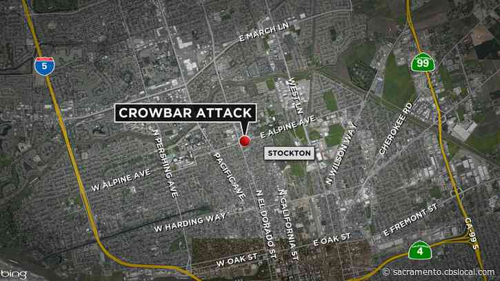 Woman Hospitalized After Crowbar Attack In Stockton, Police Say
