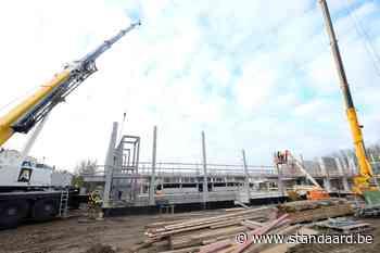 Bouw van duiktoren van nieuw zwembad in Aalst is begonnen - De Standaard
