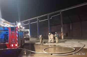 Brandweer kan brand in oude steenbakkerij Ampe in Egem snel blussen