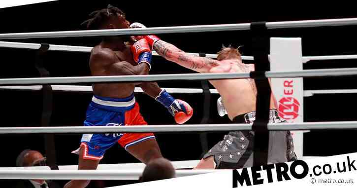 Jake Paul downs shots and celebrates after epic Nate Robinson knockout in second round