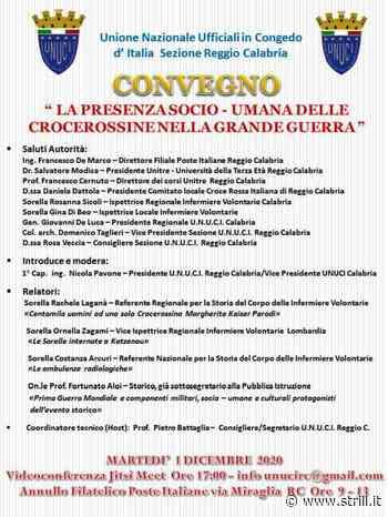 """Convegno in videoconferenza a Reggio Calabria """"La presenza socio – umana delle crocerossine nella Grande Guerra"""" - Strill.it"""