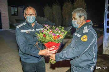 Afscheidnemende brandweerkapitein Johan Vandewalle wordt verrast door korps