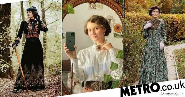 Woman dresses in 19th-century attire every day