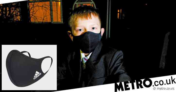 Boy ordered to remove Adidas face mask because it broke school uniform policy