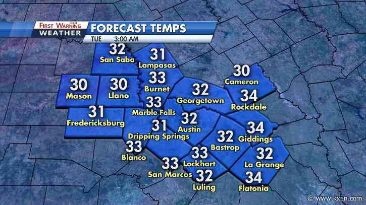 Clearing skies and chilly temperatures to close out November